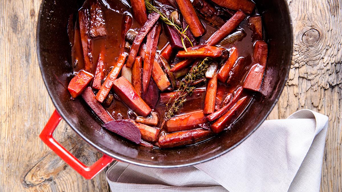 Warzywa au vin