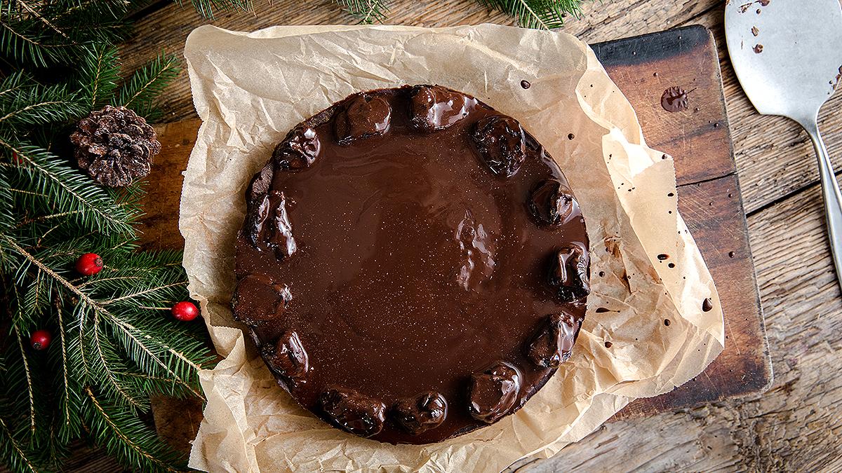 Tofurnik piernikowy z czekoladą
