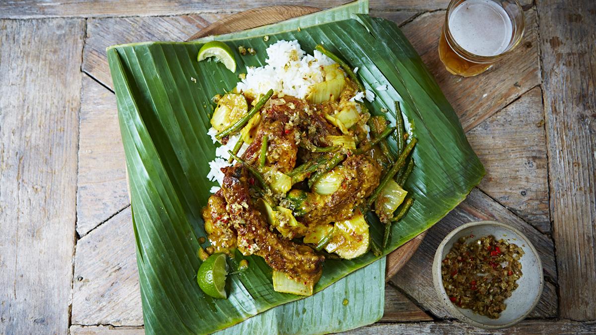 Balijskie curry z wieprzowiną z ostrym sambalem