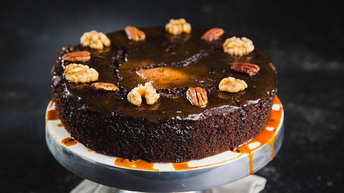 Ciasto czekoladowe z ciemnym piwem i polewą z solonego karmelu