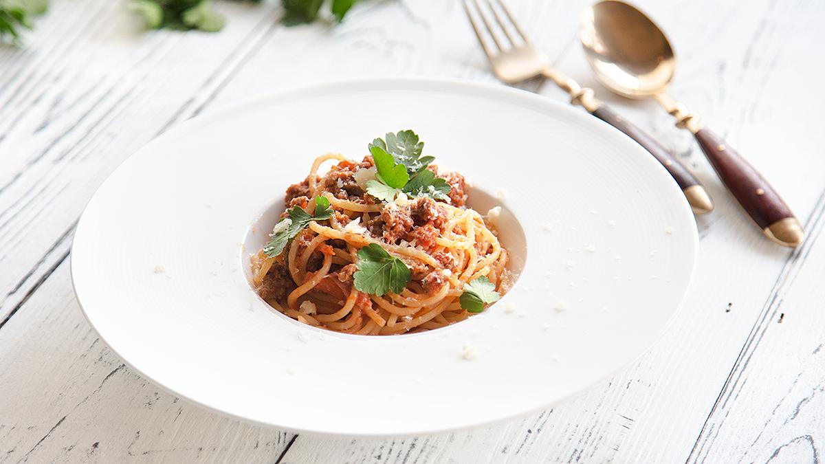 Spaghetti a'la bolognese dla Jasia