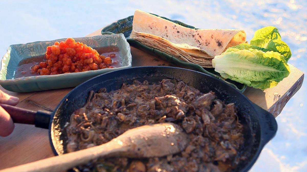 Potrawka z mięsa renifera z moroszką