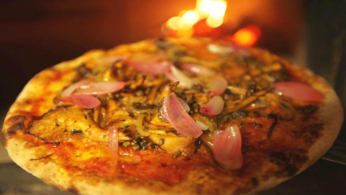 Pizza z runem leśnym
