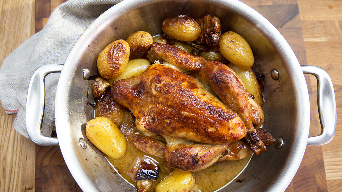 Pieczony kurczak po francusku