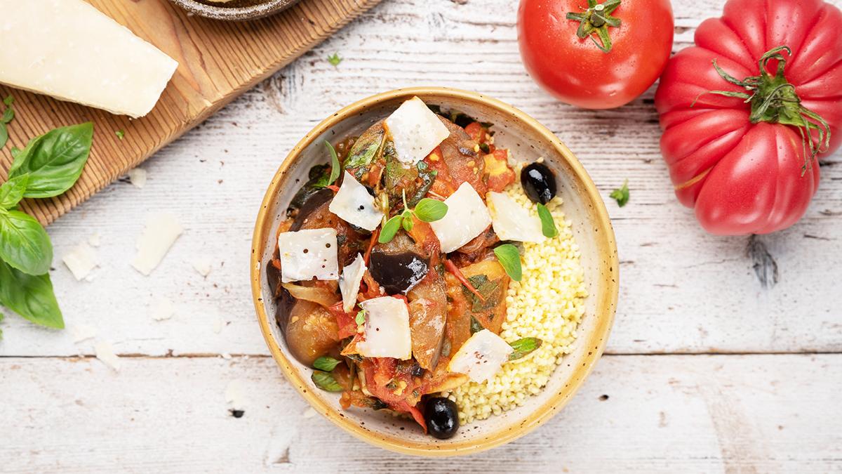 Włoska caponata z bakłażana i pomidorów