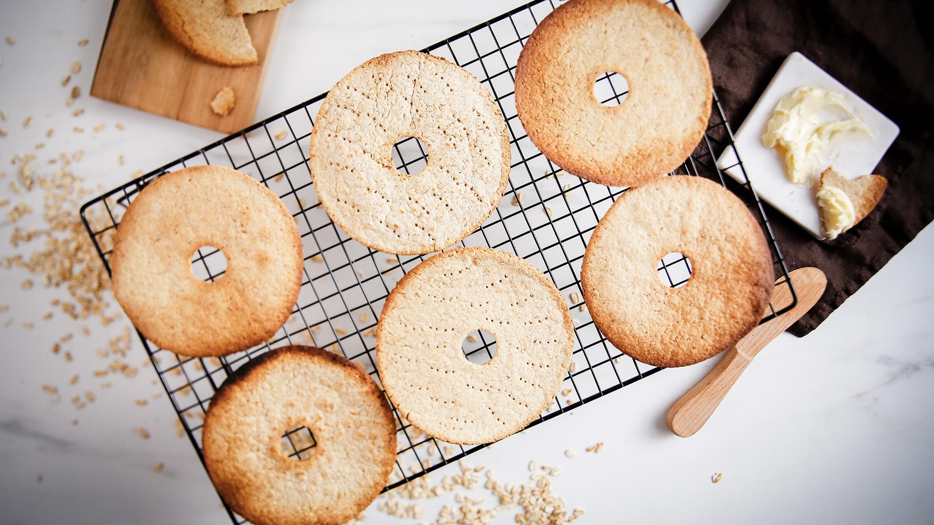 Płaskie chlebki owsiane