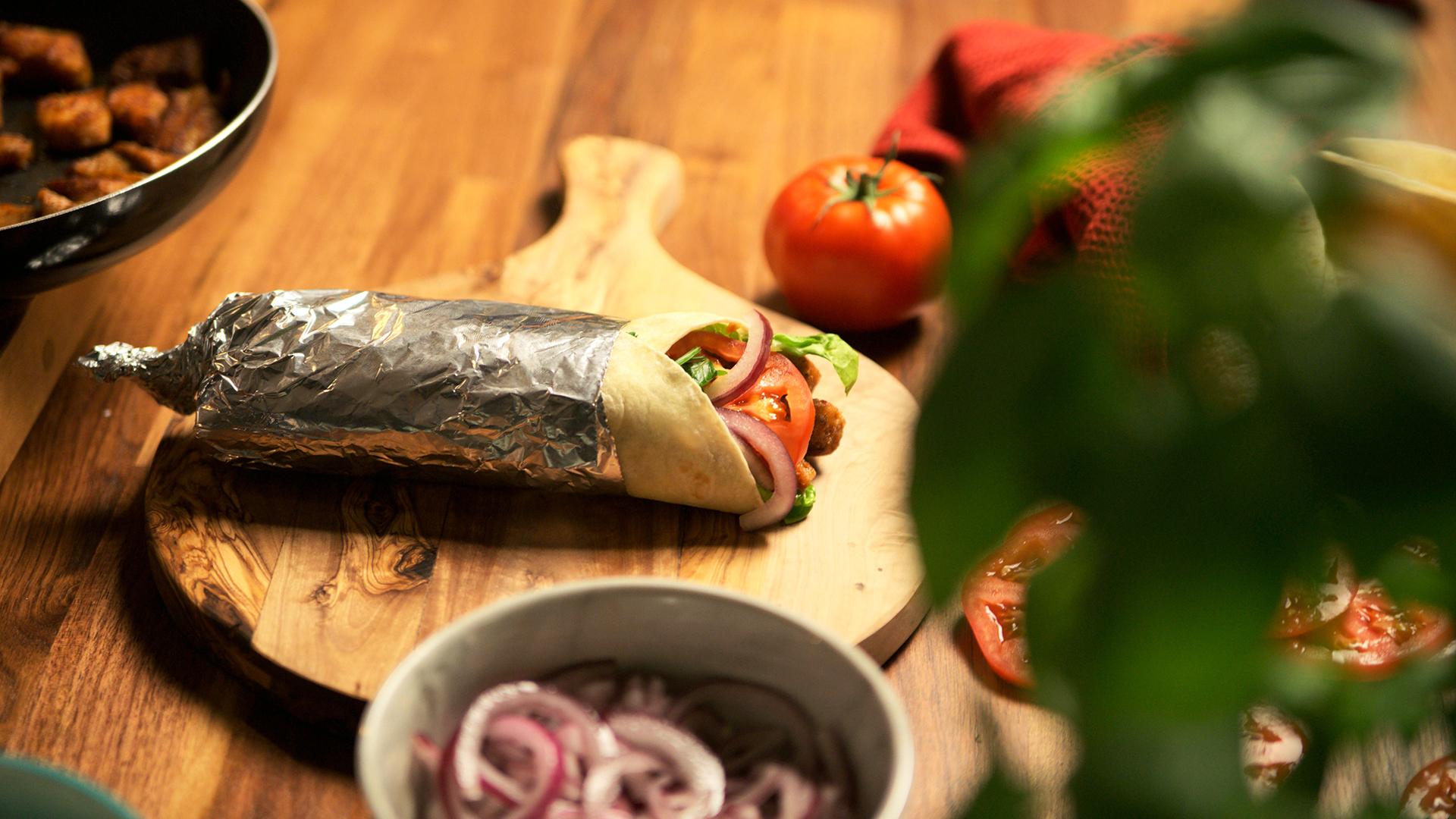 Tortilla z mięsem suma
