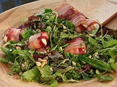 Sałatka z serem kozim i sosem winegret Laury