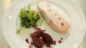 Waniliowy łosoś z sosem śliwkowym - danie w 15 minut