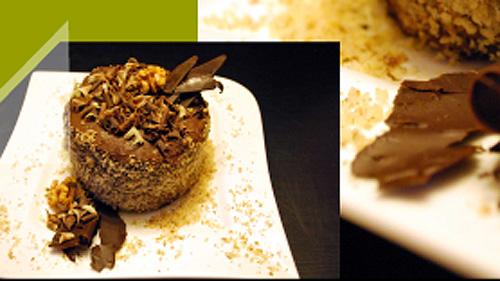 Minitorcik czekoladowy z kremem czekoladowym i orzechowym