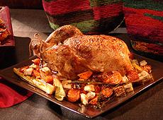 Pieczony kurczak z selerem korzeniowym