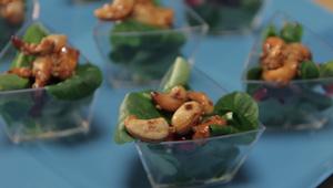 Roszponka z karmelizowanymi orzeszkami